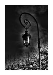 Black (manakel) Tags: white black paris france lamp strange dark noir place des le et marais blanc vosges lampadaire worrying inquiétant manakel
