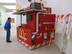 The Mcdonalds Shack (Simon_K) Tags: london art modern gallery satire humour popart irony decadence macdonalds saatchi