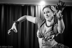 Day 48: Happy Holiday Hafla (allankcrain) Tags: bw dance bellydancer dancer jenn bellydance hafla ats tandava holidayhafla atsbellydance tandavatribalbellydance brentwoodcommunitycenter