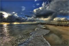 Una spiaggia di tanto tempo fa (bruto68) Tags: color nikon nuvole mare colore sigma natura cielo ostia spiaggia hdr sigma1020 nikond200 samyang nikon18200 bruto68 nikond300s samyang8mm