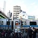 People Waiting for Gate Open at the West of Yoyogi-hachiman Station
