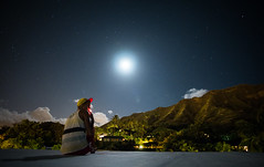 The Good Times. (PeeterTomson) Tags: life trees moon beautiful night clouds stars hawaii paradise waikiki oahu head good palm diamond explore enjoy fujifilm honolulu 12mm aloha xa1 rokinon