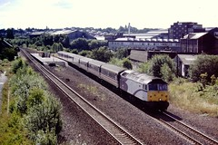 478** Darnall Station 27 Jul 97 (doughnut14) Tags: station train diesel sheffield rail loco passenger 478 gc southyorkshire greatcentral darnall porterbrook class47