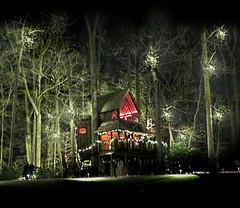 Christmas Tree House (nfin10) Tags: christmas trees house tree gardens canon square lights powershot longwood kennett g16