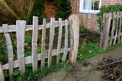 Fence in the garden of Shropshire Wildlife Trust, Shrewsbury (wonky knee) Tags: uk fence garden rustic shrewsbury shropshirewildlifetrust