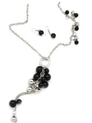 5th Avenue Black Necklace P2110A-2