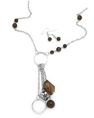 5th Avenue Brown Necklace P2330-5