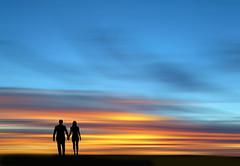 On the beach (Frans Schmit) Tags: sunset beach photoshop romance lovers fransschmit
