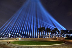 MIA Park Laser Show (Sanjiban2011) Tags: park nightphotography night lights nikon corniche mia laser tamron lasershow doha qatar miapark tamron1750 d7100 qatarhandballcelebration