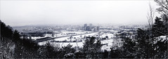 A freezing city (Jotuntroll) Tags: city trees winter 2 panorama snow cold weather oslo norway by 35mm canon t landscape eos norge town woods cityscape snowy overcast capitol barcode 5d operahouse ze markii distagon carlzeiss hovedstad