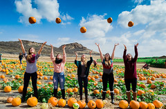 Up in the Air (AdrienneCredoPhotography) Tags: california autumn friends fall love halloween clouds pumpkin nikon patch irvine d3200