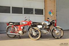 Vintage Pair (Eric Arnold Photography) Tags: las vegas classic vintage honda photoshoot garage motorcycles super motorcycle