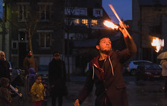 Tours (letheotheo) Tags: fire nightlights streetphotography juggler tours fujifilmxt1