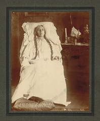 Clarabel McFee (sctatepdx) Tags: ohio portrait cincinnati braids 1907 oldportrait vintageportrait vintageinterior vintagenightgown vintagecandlestick clarabelmcfee