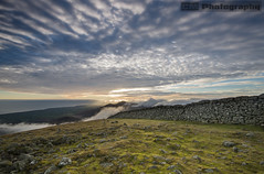 On top of the world (C.M_Photography) Tags: sunset mountain mountains wall clouds scenic dramatic northernireland mournes slievedonard