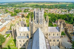 Ely Cathedral, Cambridgeshire - View From the Tower (JackPeasePhotography) Tags: architecture nikon ship cathedral gothic arches norman architect ely dslr fens cambridgeshire