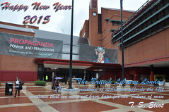 Hapy New Year British Library T. S. Eliot 2015 (photographer695) Tags: new man london that t happy hope for very library libraries year may s best we have future british yet evidence eliot existence the 2015 affords