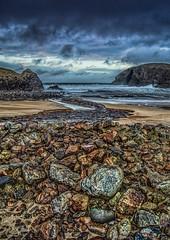 Dalbeag beach (Impact Imagz) Tags: winter sea seascape storm beach clouds rocks shoreline lewis pebbles westside surge westernisles badweather isleoflewis outerhebrides dalbeg dalbeagbeach