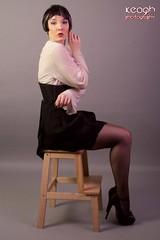 IMG_2746 (Neil Keogh Photography) Tags: white black stockings female highheels gothic skirt blouse heels glam suspenders burlesque laces corsets studioshoot stockingssuspenders modelzoe
