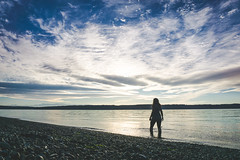 The Feels (Alec Mills Photography) Tags: sunset sky beach water washington perspective pugetsound waterportrait caminoisland alecmillsphotography