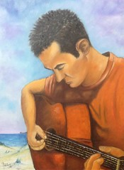 Il chitarrista (cicipeis) Tags: sardegna arte musica alghero pittura chitarrista cicipeis andreapeis
