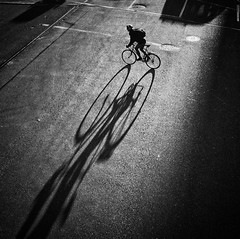 O O (. Jianwei .) Tags: street light shadow urban bike vancouver sony 影子 waterfrontstation 2014 nex kemily