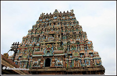 4808 - Thirumudukundram  (Vridhachalam)  06 (chandrasekaran a) Tags: india buildings structures tamron hinduism tamilnadu templeart 18270 gopurams appar vridhachalam padalpetrasthalam sundarar templesarchitecturesscuptures thevaram sambandhar saivaism thirumuraitemples mudhukundram pazhamalai figuralgopuram