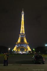 Love in Paris (kyotzi) Tags: paris tower night canon shot eiffel  g7x