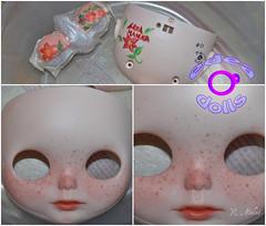 Aroa Manuela, proceso. (edea44) Tags: bigeyes ooak carving blythe custom tbl edea maquillaje proceso ojosgrandes customizacin customizadora edeadolls