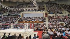 Stadium is filled for the Inoki pro-wrestling friendship games (uritours) Tags: northkorea dprk coréiadonorte sportvemcoréiadonorte globoemcoréiadonorte