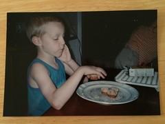 Eating Mini Muffins (evamadera) Tags: family hiltonheadisland minimuffins