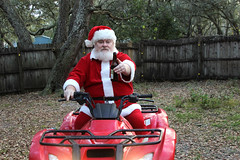 Santa's New Ride (Richard Elzey) Tags: santa eve chris red holiday playing beer hat drunk reindeer weird crazy dancers florida bad drinking creepy spooky suit elf weihnachtsmann kris fatherchristmas santaclaus jolly claus mad looney kriskringle happyholidays merrychristmas papainoel grumpy perenoel chrismas clause helper stnick kringle moroz northpole 2014 ded redsuit viejopascuero saintnickolas comingtotown dedmoroz jultomten mikulas verymerry prancers hoteiosho dunchelaoren