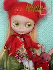 Phew... (A Little Fairy Magic/Leezapea1) Tags: blythe phew barbiepurse nostalgicpop mellykaycustom blythefifthavenue dewdropteddybears picmonkey:app=editor