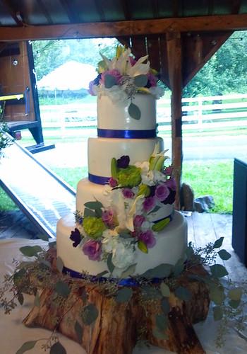"Fresh flower spring wedding cake • <a style=""font-size:0.8em;"" href=""http://www.flickr.com/photos/50891271@N03/16161002810/"" target=""_blank"">View on Flickr</a>"