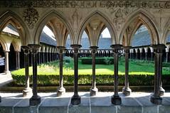 Inner yard (YuriZhuck) Tags: france abbey architecture europe landmark monastery normandy mont saintmichel
