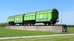 Old VAM train  perserved at the VAM site. (sirgunho) Tags: old netherlands train site trains cargo compost vam railways drenthe perserved