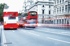 The Wheels on the Bus (phoebe.horner) Tags: city red bus london st speed canon buildings cityscape slow cathedral time pigeon pauls shutter lapse 400d