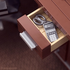 Drawer Detail (powerpig) Tags: lego drawer calculator