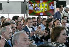 Javier de Andrs, Alfonso Alonso, Mariano Rajoy, Javier Maroto y Nerea Llano en el foro (Partido Popular) Tags: durango rajoy eta pp victimas