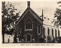 Murray Views No 20 Methodist Church Albury NSW (Daddys 'lil Girl) Tags: postcard australia nsw historical 1949 wagga albury riverina