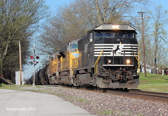 NS 167 M aud Il (waltersrails) Tags: railroad train illinois ns norfolk indiana trains southern ge emd