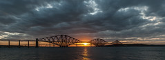 Sunset at the Bridges-2 (Johnny_7) Tags: road bridge sunset sea sky sun seascape water clouds river landscape scotland edinburgh famous capital transport rail estuary forth firth queensferry waterscape