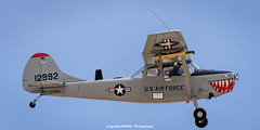 Bird Dog (Ignacio Ferre) Tags: madrid airplane nikon aircraft military birddog airshow avin fio cessna usairforce lecu cuatrovientos cessnal19 fundacininfantedeorleans