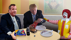 John Miller Meets with Top Advisors at Local McDonald's (DonkeyHotey) Tags: face photomanipulation photoshop photo election political politics cartoon manipulation mcdonalds politician oreo donaldtrump bigmac republican campaign ronaldmcdonald primary gop rnc commentary generalelection 2016 politicalcommentary chrischristie donkeyhotey