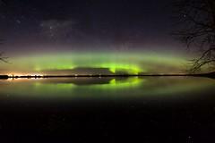 Eye of Aurora (John Andersen (JPAndersen images)) Tags: night reflections stars alberta aurora dawsonlake
