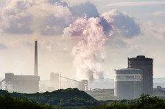 Tata Steel production facility at Port Talbot (Ian Redding) Tags: uk industry wales landscape evening energy industrial steel release steam business glamorgan production british facility porttalbot subsidies tatasteel financiallytroubled