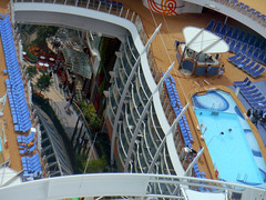 Harmony of the Seas (STEHOUWER AND RECIO) Tags: above cruise holiday holland tourism netherlands swimming garden boat big high rotterdam ship pov unique zwembad perspective nederland vessel tourists swimmingpool deck upper harmony cruiseship tuin biggest seas toerisme harmonyoftheseas