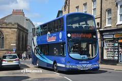 Transdev Yorkshire Coastliner 419, FJ08BYV. (EYBusman) Tags: york city bus eclipse volvo coach yorkshire centre north coastline wright gemini fishergate blazefield transdev b9tl fj08byv eybusman