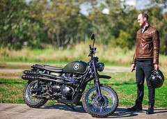 Triump Motorcycle (dodgyharo) Tags: canon dream 85mm nd 5d speedmaster density f12 neutral tiffen zhongyi mitakon