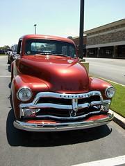 Front View | Restored Chevrolet Pickup Truck (steveartist) Tags: pickuptrucks chevys chevrolets antiquevehicles chromewheelstrim custompaint stevefrenkel truckgrilles lgescape2 aviaryapp